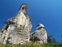Rocas de la piedra arenisca Foto de archivo libre de regalías