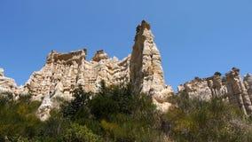 Rocas de la piedra arenisca de los organpipes Sur Tet, Francia de Orgues Ille metrajes