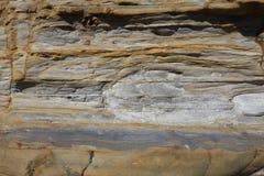 Rocas de la piedra arenisca en el punto Lobos Imagenes de archivo