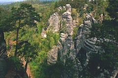 rocas de la piedra arenisca en República Checa Fotografía de archivo libre de regalías