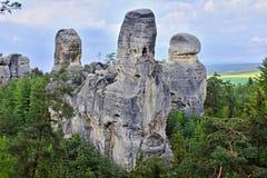 rocas de la piedra arenisca en República Checa Fotos de archivo libres de regalías