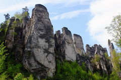 rocas de la piedra arenisca en República Checa Fotografía de archivo