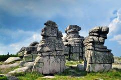 Rocas de la roca de Krkonose Fotos de archivo libres de regalías