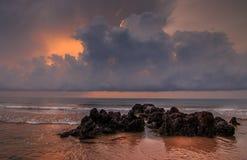 Rocas de la salida del sol Foto de archivo libre de regalías