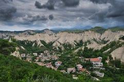 Rocas de Melnik Imagen de archivo