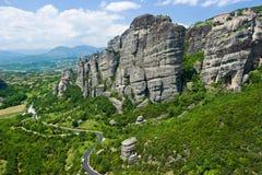 Rocas de Meteora Imágenes de archivo libres de regalías