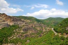 Rocas de Meteora, Grecia fotografía de archivo libre de regalías