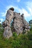 Rocas de Montpellier le Vieux Fotos de archivo libres de regalías