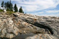 Rocas de Pemaquid Fotos de archivo libres de regalías
