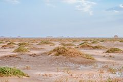 Rocas de Yardang en el desierto de Gobi en Dunhuang Yardang Geopark nacional, Gansu, China foto de archivo