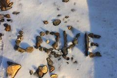 Rocas del amor Fotos de archivo libres de regalías