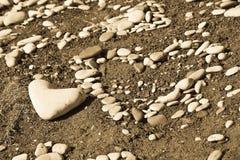 Rocas del corazón Fotografía de archivo libre de regalías