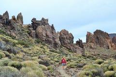 Rocas del cráter de Teide Fotos de archivo libres de regalías