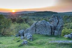 Rocas del granito en la puesta del sol Fotografía de archivo libre de regalías