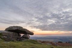 Rocas del granito por la tarde Imagen de archivo libre de regalías