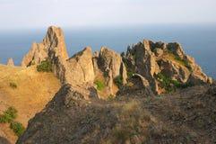 Rocas del karadag del volcán imagen de archivo libre de regalías