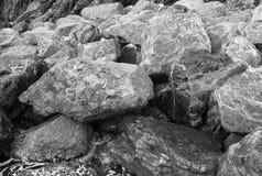 Rocas del mar Foto blanco y negro de Pekín, China Fotografía de archivo