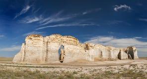 Rocas del monumento en Kansas Fotografía de archivo libre de regalías