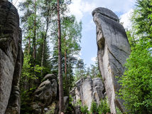 Rocas del pach-Teplice del ¡de AdrÅ Imágenes de archivo libres de regalías