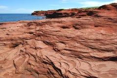 Rocas del rojo de PEI Fotografía de archivo libre de regalías