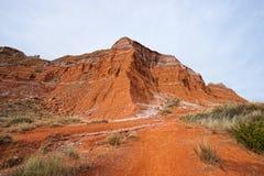 Rocas del rojo de Tejas del barranco de Palo Duro Foto de archivo