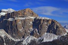 Rocas del Sass Pordoi, grupo de Sella. Fotos de archivo libres de regalías