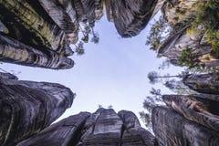 Rocas del teplice de Adrspach Foto de archivo