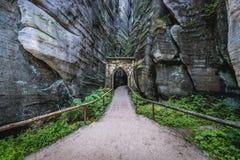 Rocas del teplice de Adrspach Imagen de archivo libre de regalías