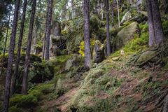 Rocas del teplice de Adrspach Imagen de archivo