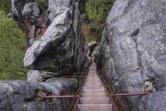 Rocas del teplice de Adrspach Imagenes de archivo