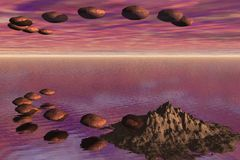 Rocas del vuelo Fotografía de archivo libre de regalías