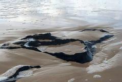 Rocas después de ondas Foto de archivo libre de regalías