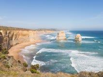 Rocas doce apóstoles en Australia Imagen de archivo libre de regalías