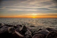 Rocas durante la puesta del sol Imagen de archivo