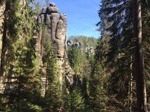 Rocas en Adrspach Foto de archivo libre de regalías
