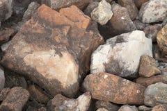 Rocas en Clinton State Park en Kansas Imagenes de archivo