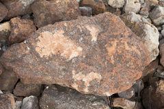 Rocas en Clinton State Park en Kansas Fotos de archivo