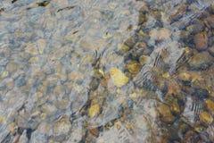 Rocas en corriente clara del agua Fotografía de archivo