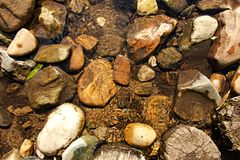 Rocas en The Creek Fotos de archivo libres de regalías