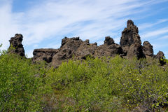 Rocas en Dimmu Borgir imágenes de archivo libres de regalías
