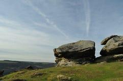 Rocas en el borde de Froggatt Imagenes de archivo