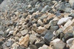 Rocas en el ferrocarril Imagen de archivo libre de regalías