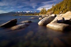 Rocas en el lago Tahoe Imágenes de archivo libres de regalías