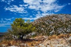 Rocas en el macizo de Mosor en las montañas de Dinaric fotografía de archivo