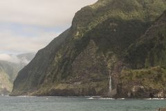 Rocas en el mar en la isla de Madeira Foto de archivo libre de regalías