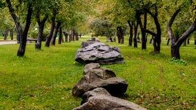 Rocas en el parque Imagen de archivo libre de regalías
