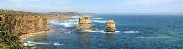 Rocas en el parque nacional de 12 apóstoles Foto de archivo