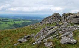 Rocas en el parque nacional de Dartmoor fotografía de archivo libre de regalías