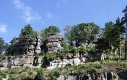 Rocas en el wek Slaski del ³ de Lwà fotos de archivo
