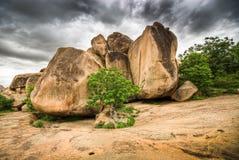 Rocas en Hampi Fotografía de archivo